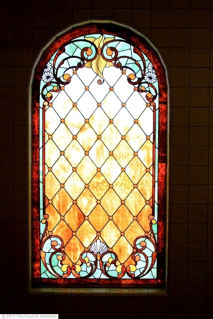 Winchester House - beautiful stained glass windows...