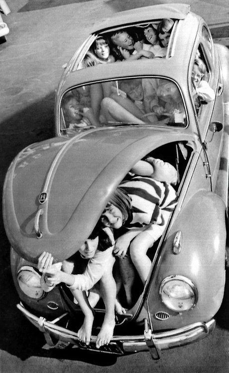 VW 1964 . Crazy fad. They stuffed phone booths, to...