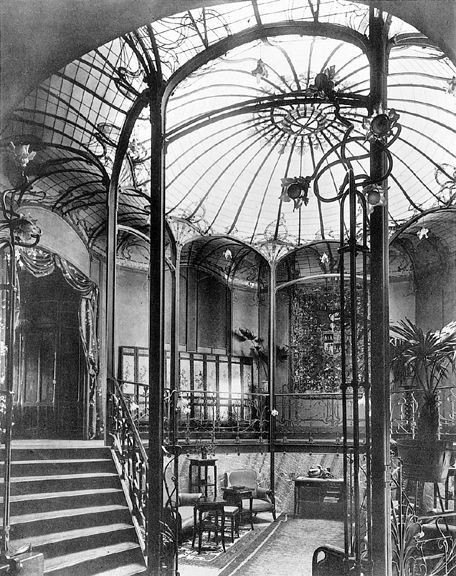Victor Horta designed this staircase in the Art No...