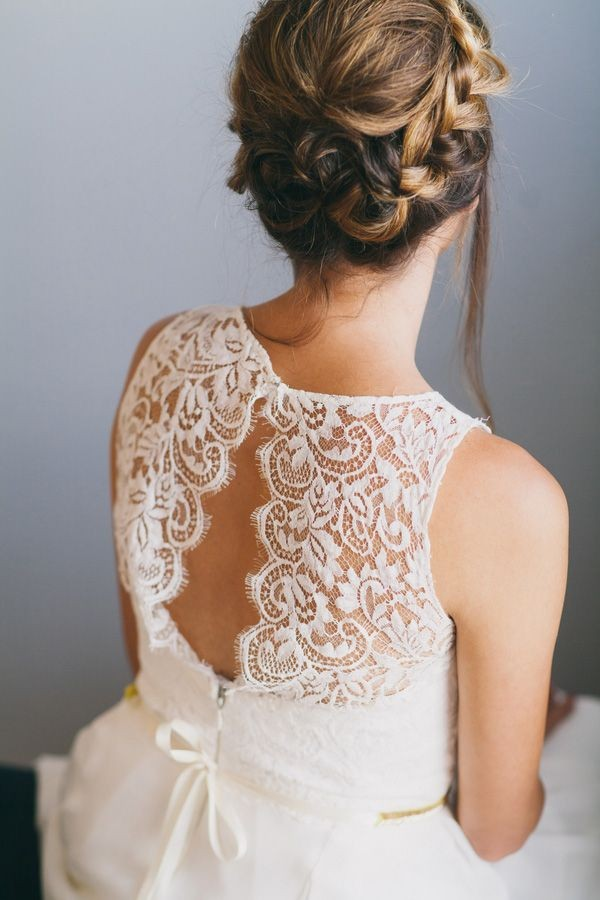 Gorgeous Open Lace Back on the Sarah Seven Mademoi...