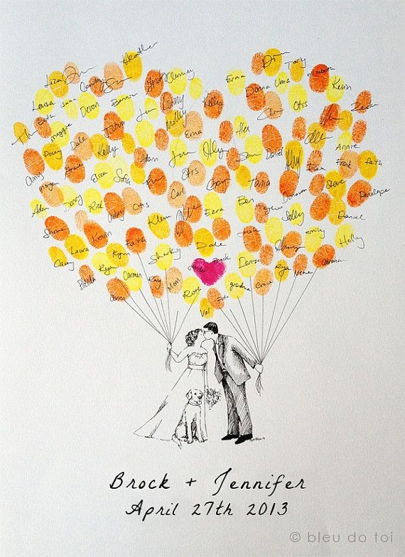 Custom Couple Thumbprint Balloon The original by b...