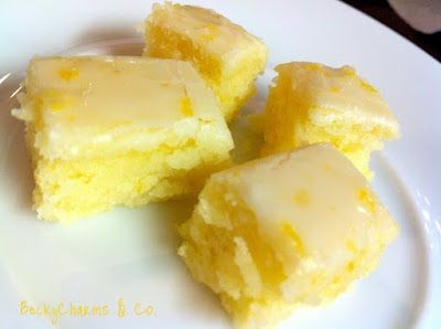 Lemon Brownies recipe * * * This is quick and easy...