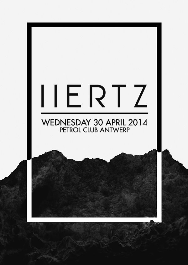 H E R T Z | Poster | Graphic Design | Contrast of...