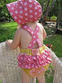 Ruffle Romper, I love making these for Madison! Su...