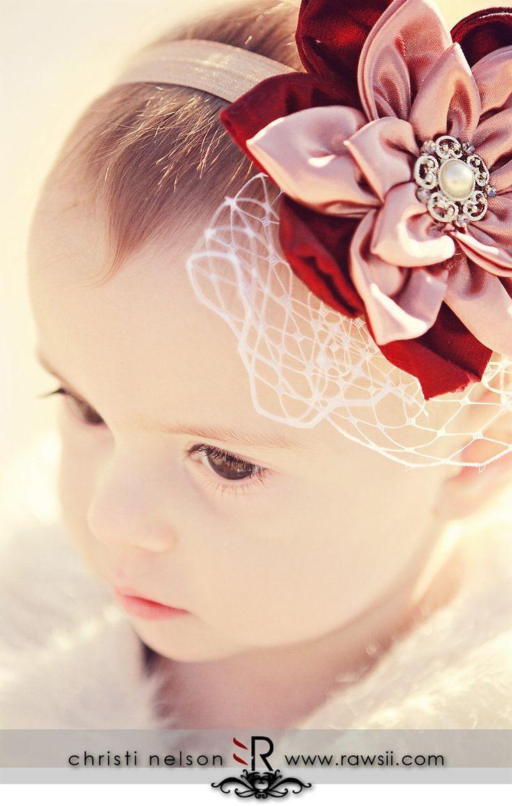 pretty headband!How to make a fabric flower headba...