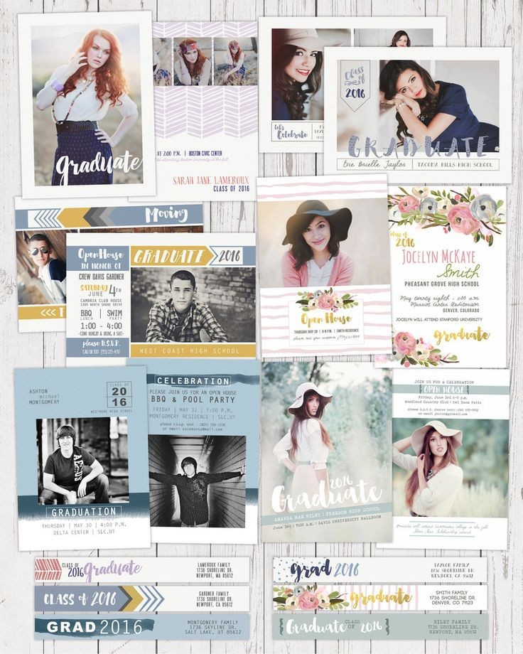 GRAD Announcement BUNDLE | MODERN MUSE