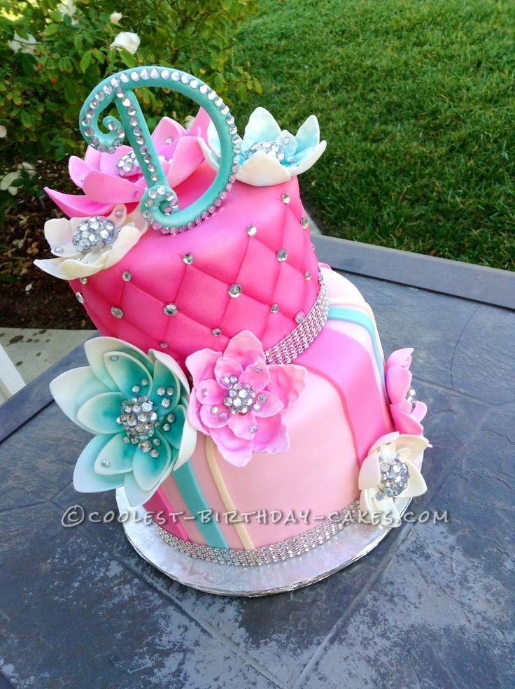 Pleasing Diamonds For D Bling Cake Coolest Birthday Cake Ideas Posted Funny Birthday Cards Online Alyptdamsfinfo