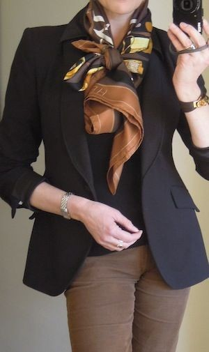 Great black blazer with black sweater underneath