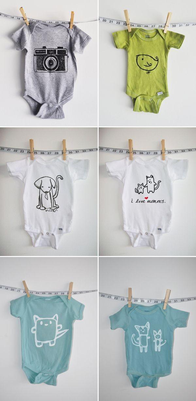 Stylish Unisex Baby Clothing. So hard to find cute...