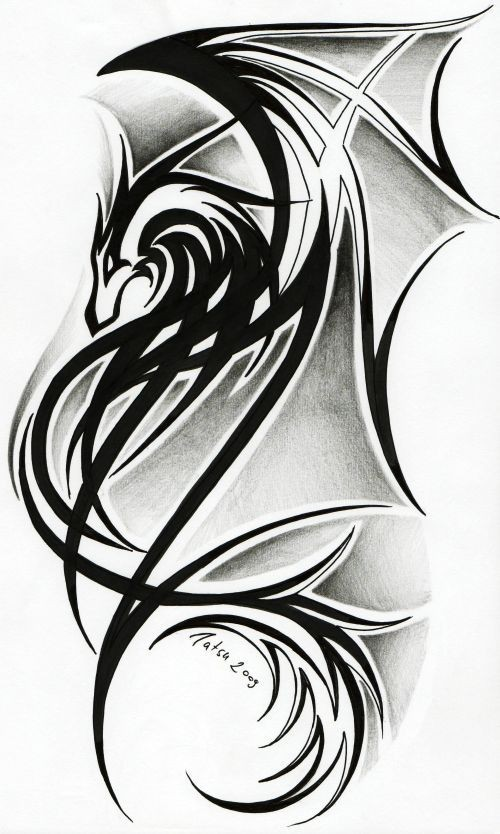 celtic dragon tribal tattoos | Dragon tattoo II. b...