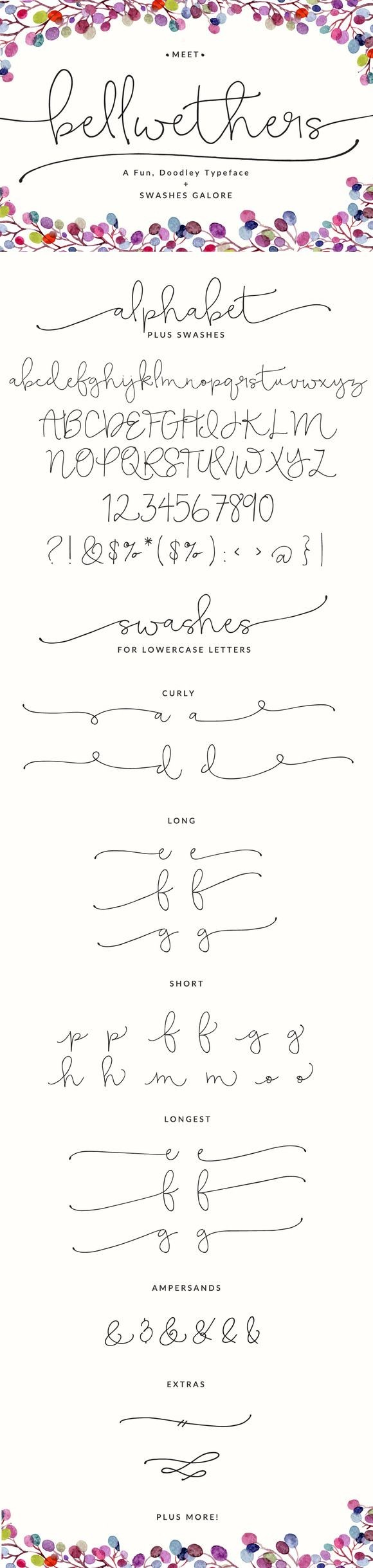 Meet the latest Angie Makes font... Bellwethers. T...