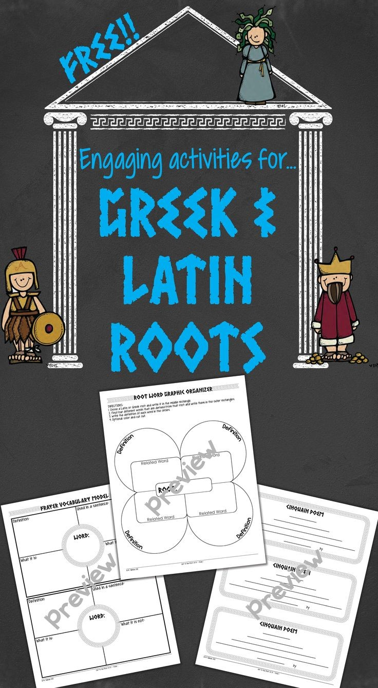 FREE activities that are perfect for Greek and Lat...