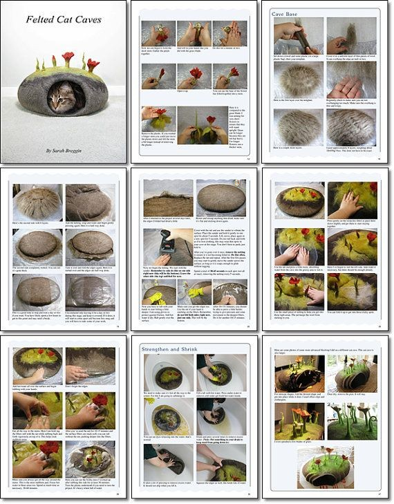 How to make Felted Cat Caves eBook tutorial by Fel...