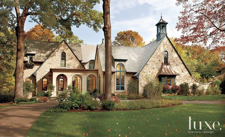 Storybook cottage | Stone Exterior with Shingle-St...