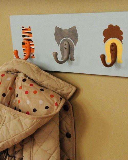 DIY Animal Hooks  Decorate a baby's nursery...