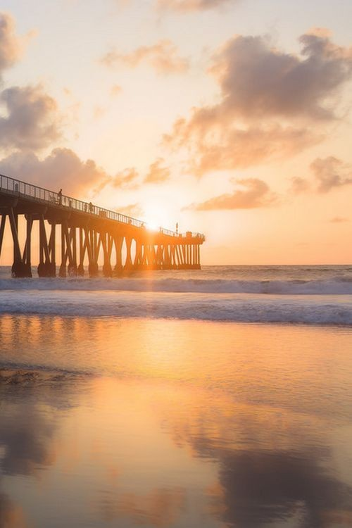 Hermosa Beach Pier sunset, Los Angeles' Southbay...