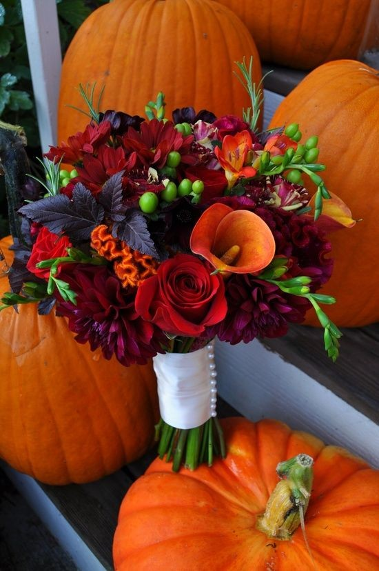 Fall Wedding Bouquet - THESE COLORS!!! Gorgeous! S...