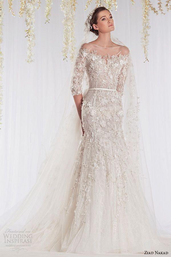 ziad nakad 2015 haute couture bridal wedding dress...