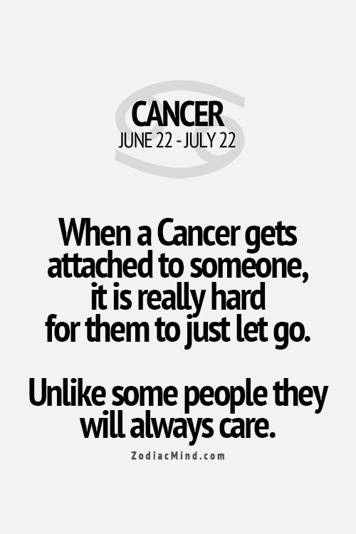 When a Cancer gets attached to someone, it is real...