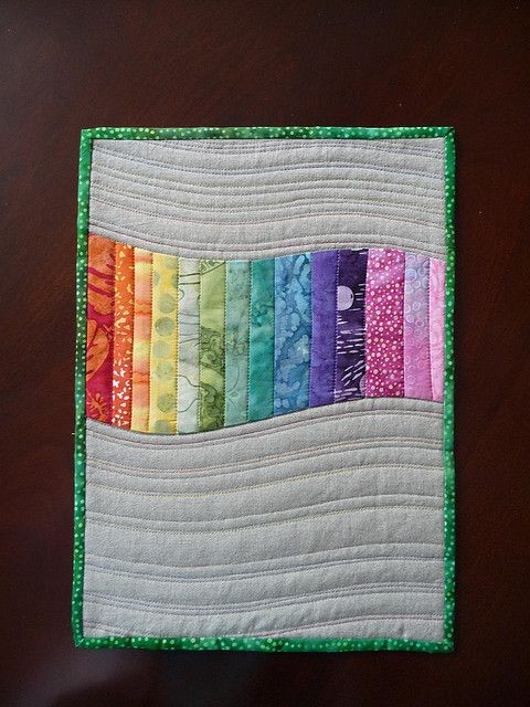 Simple idea for a small wall quilt for home decor....
