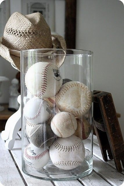 Baseball collection in jar ( already did this for...