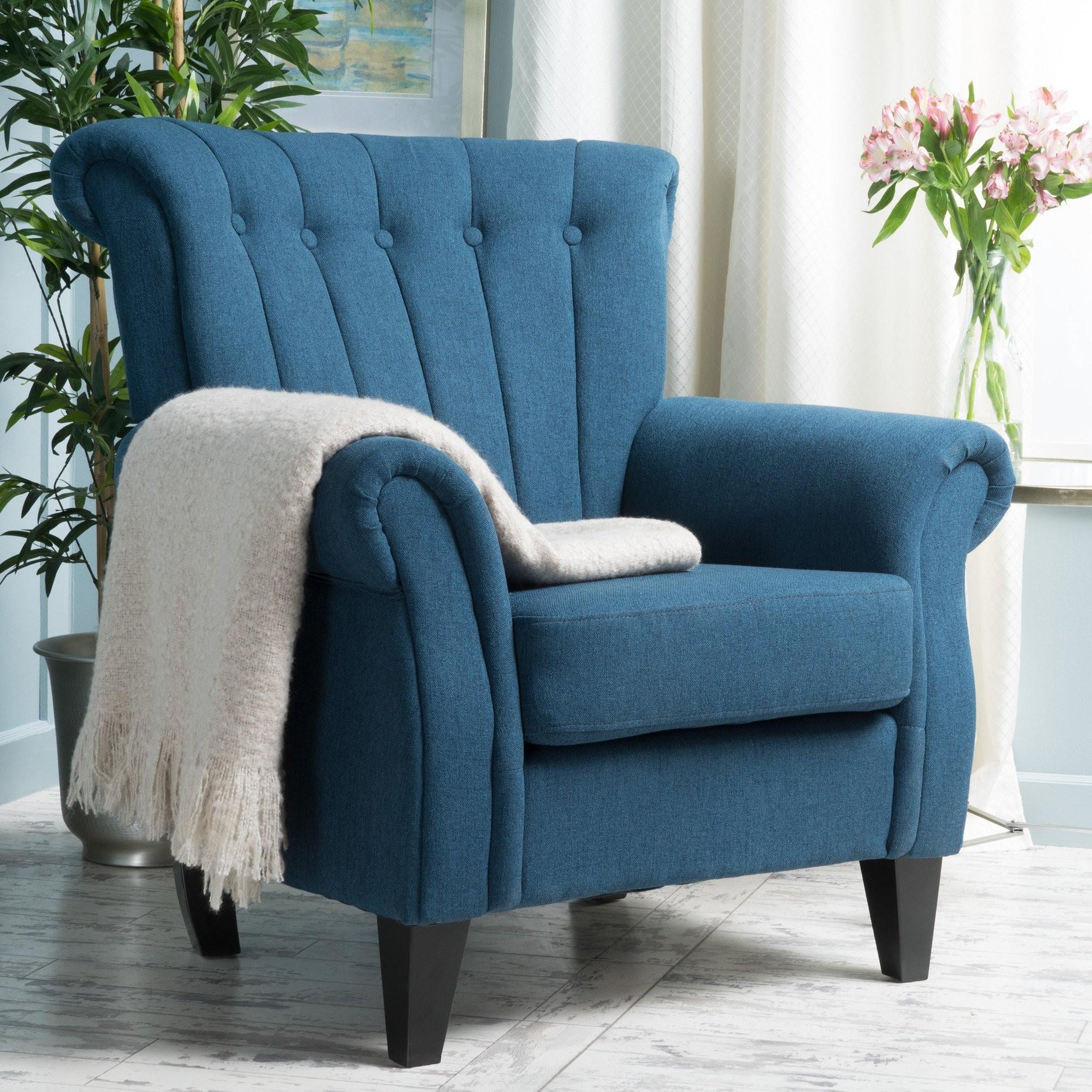 Romee Channel Backed Light Mocha Fabric Armchair
