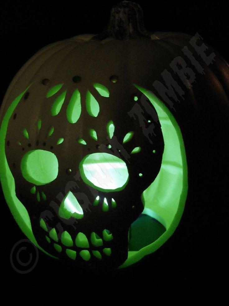 Pumpkin Stencil - Sugar Skull - Carving, Crafts -...