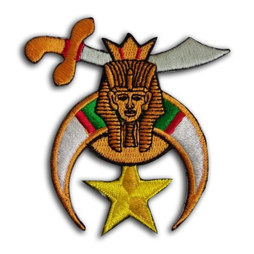 Colorful Cut Out Masonic Shriner Patch for Freemas...