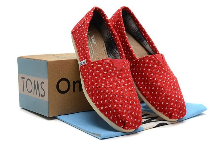 Toms Polka Dots Womens Classics Red