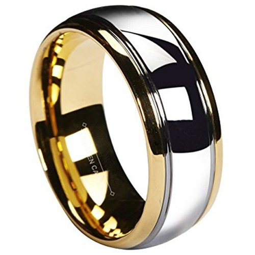 8mm - Unisex or Men's Tungsten Wedding Band. G...