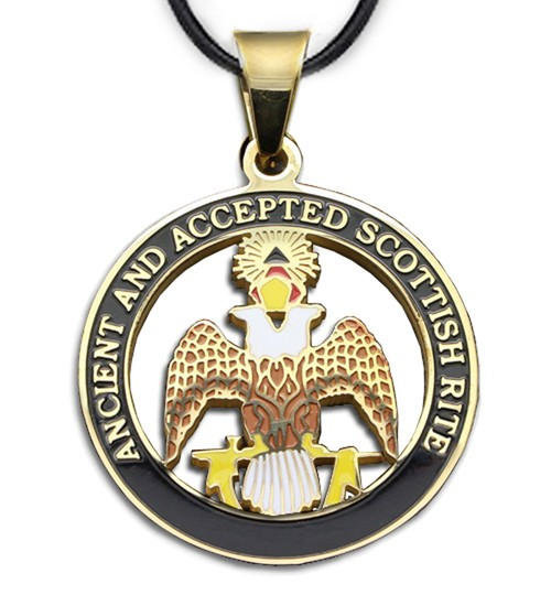 Scottish Rite - 33rd Degree Gold Color Stainless S...