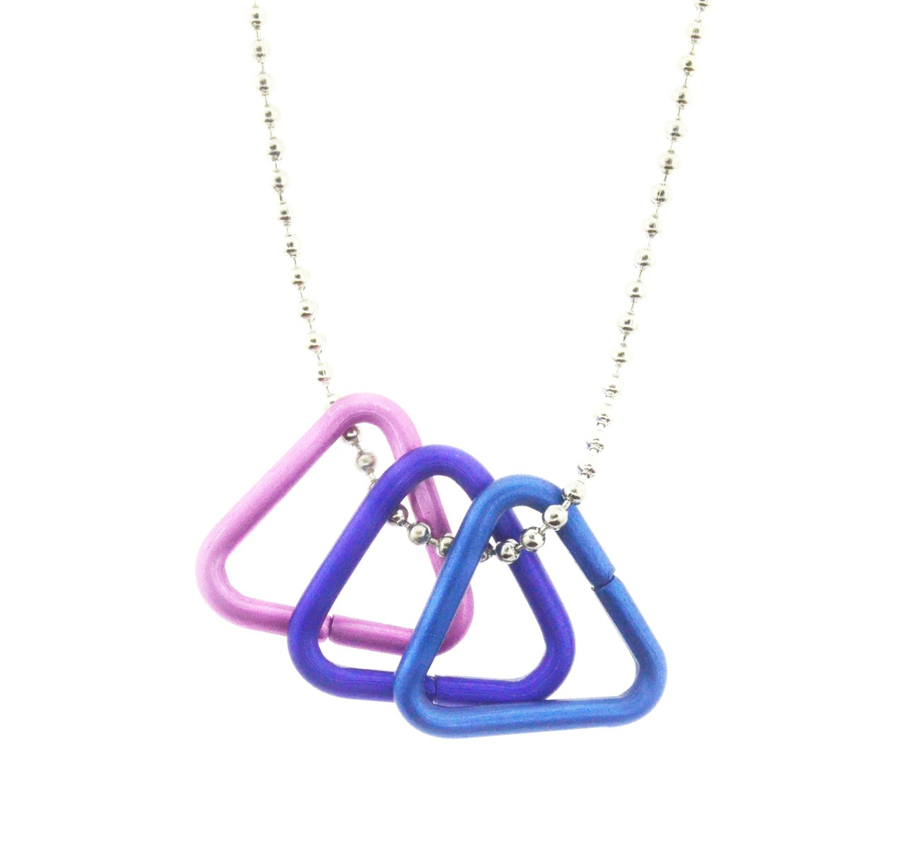 Bi Pride Freedom Triangle Necklace - Bisexual LGBT...