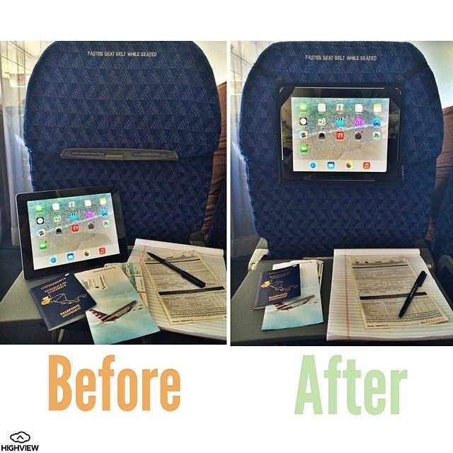 The HighView iPad hanger- before and after! Lets y...