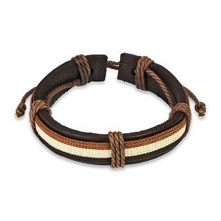 Bear Pride Flag Leather Bound Bracelet - LGBT Gay...