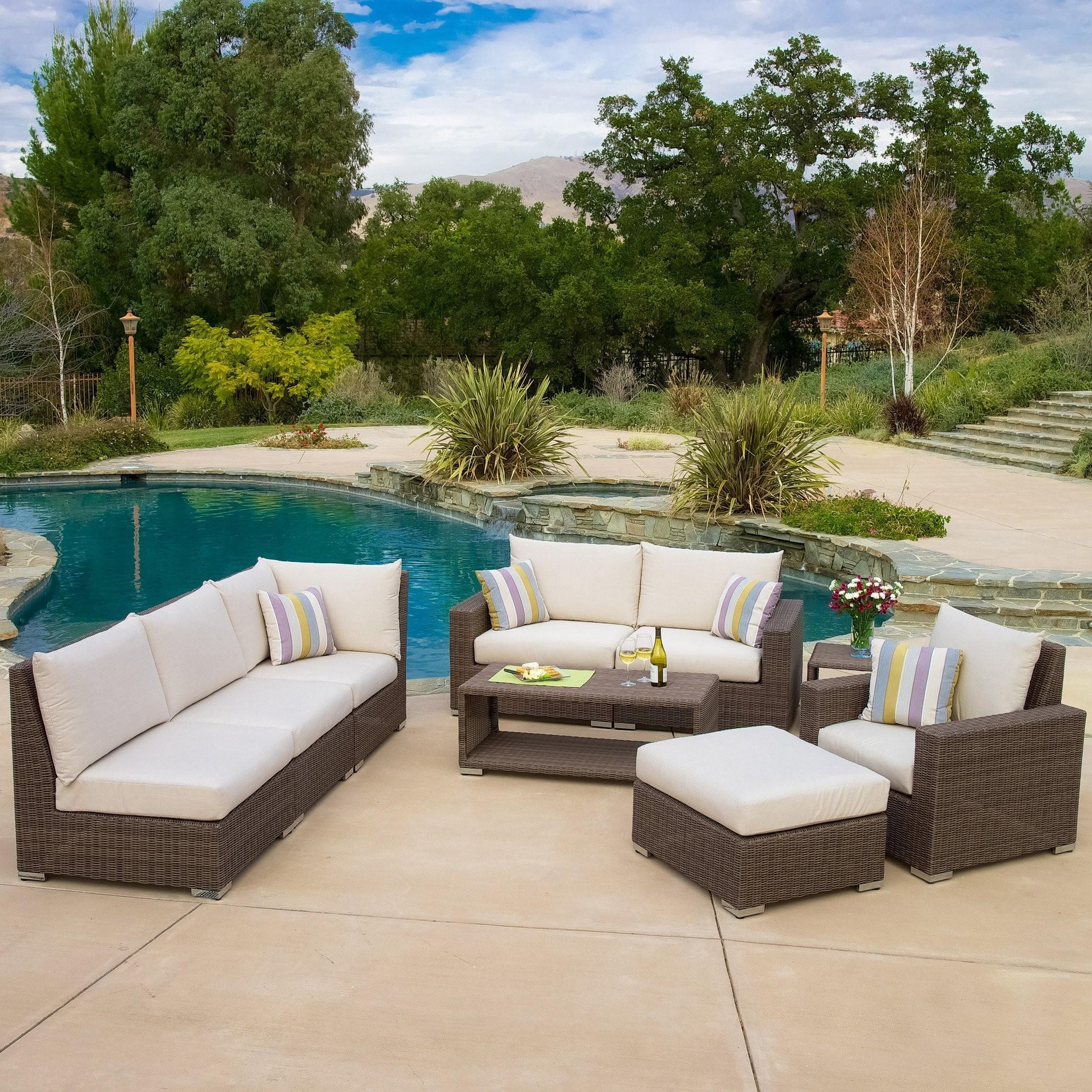 Garvaris Contemporary Outdoor 9pc Seating Set