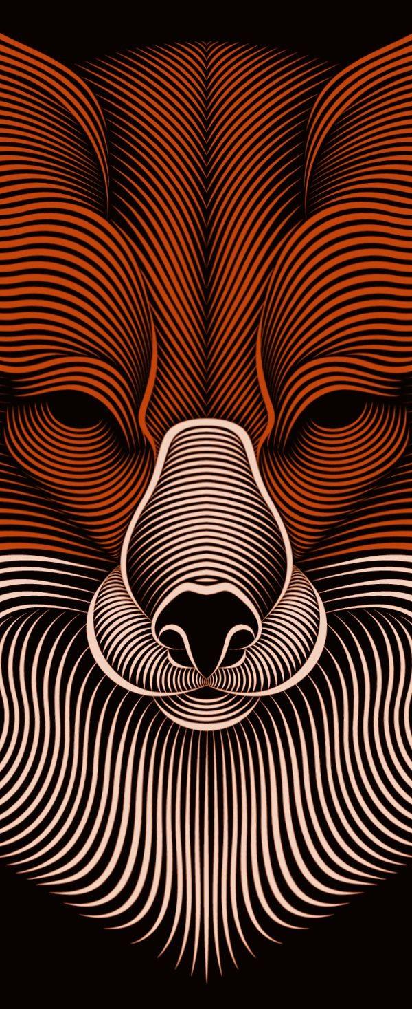 Fox   illustration by Patrick Seymour, via Behance