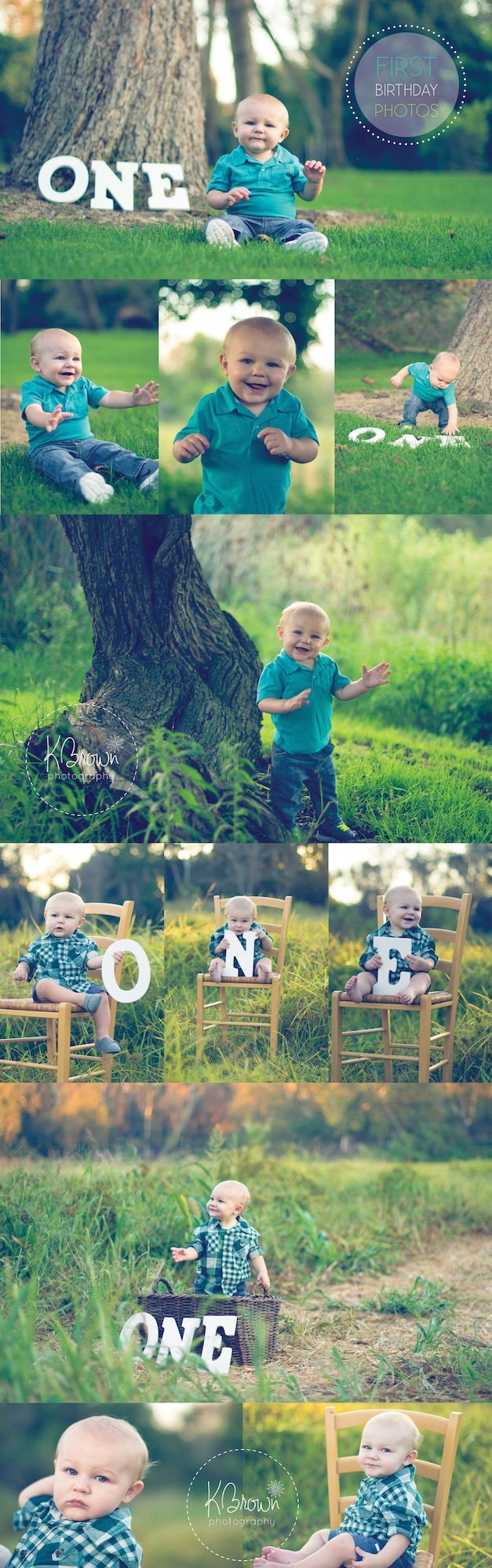First Birthday Photos. One Year Old photo shoot. B...