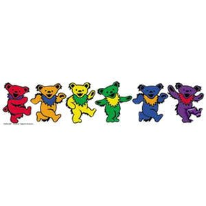 Rainbow Dancing Bears Bumper Sticker (10 x 2 inch)...