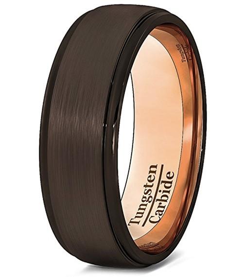 8mm - Unisex or Men's Tungsten Wedding Band. B...