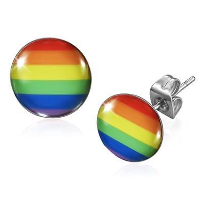 Rainbow Flag - LGBT Gay and Lesbian Pride Earrings...