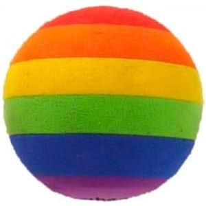 Gay Pride Rainbow Ball car Antenna Topper / Rear V...