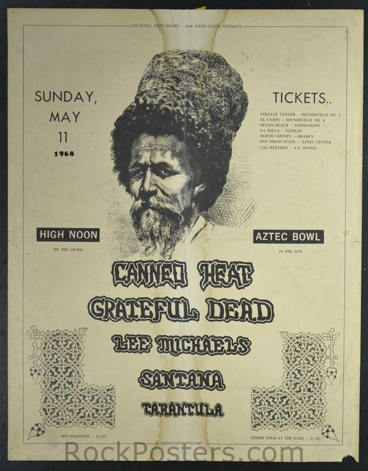 AOR3.102 - Canned Heat Poster - San Diego State Un...