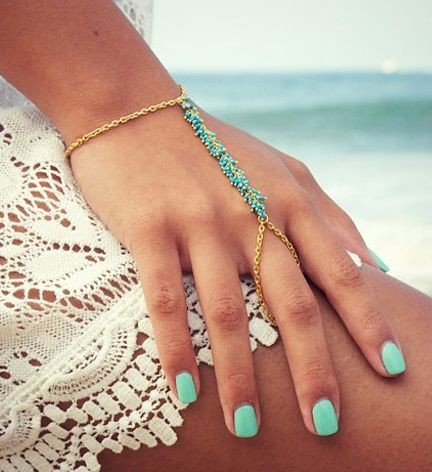 Turquoise hand chain.......I like these.  Have one...