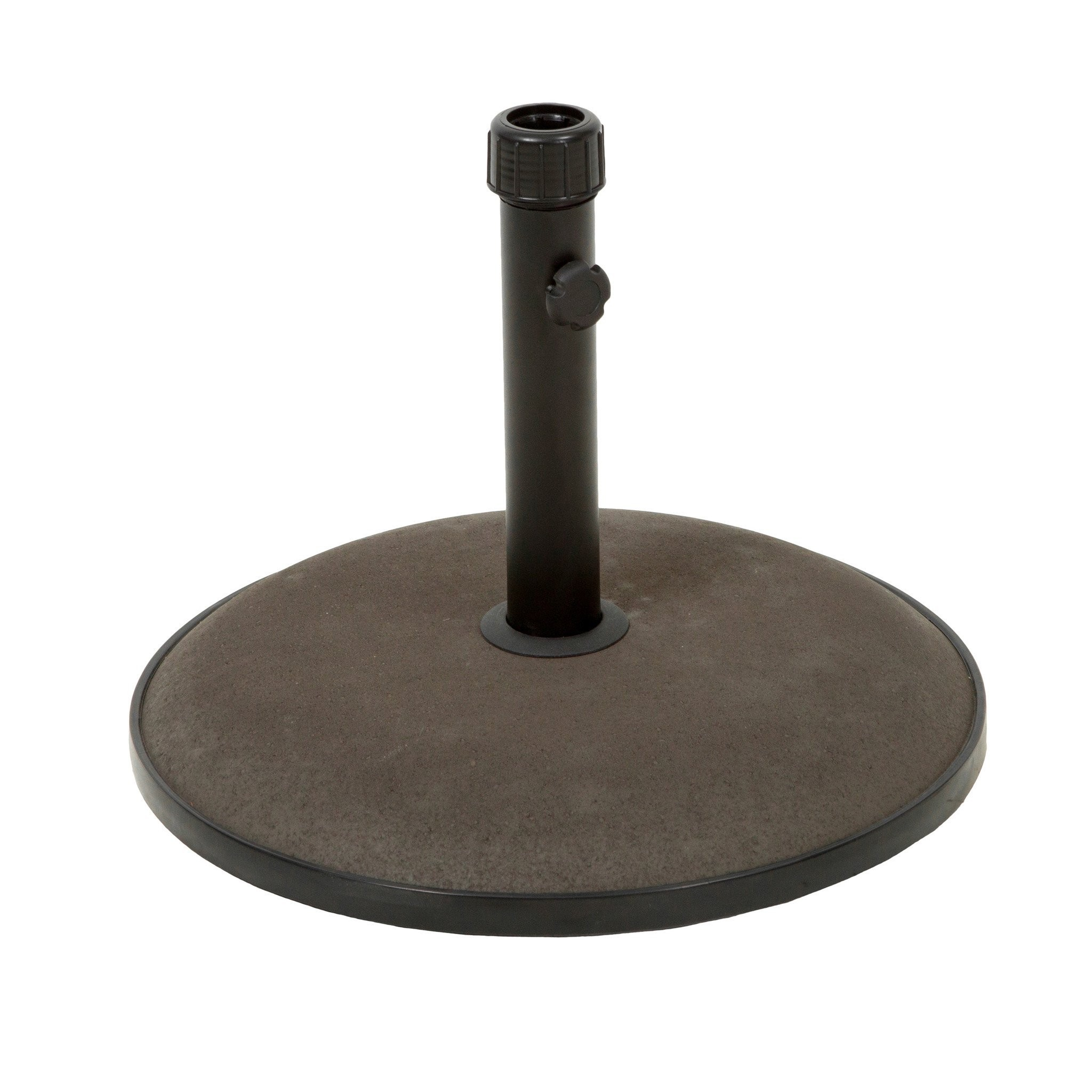 Benton Round Brown Concrete Umbrella Base