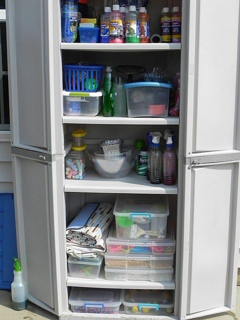 Outdoor Sensory Storage!  I love the idea of stori...