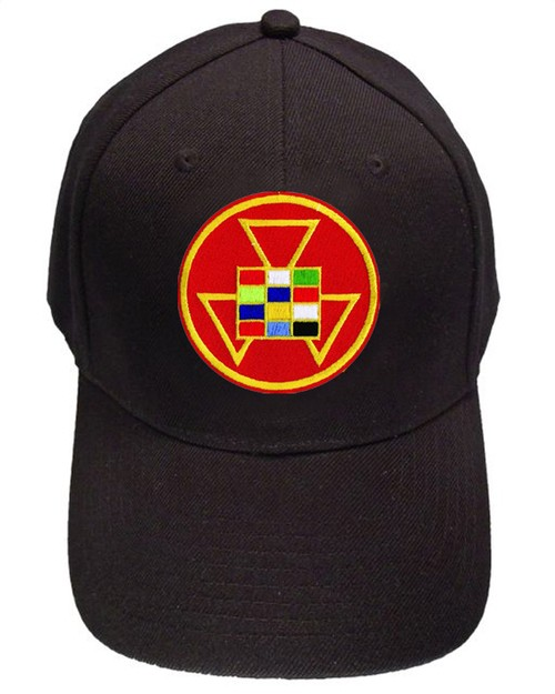 High Priest Masonic Baseball Cap - Black Hat - Col...