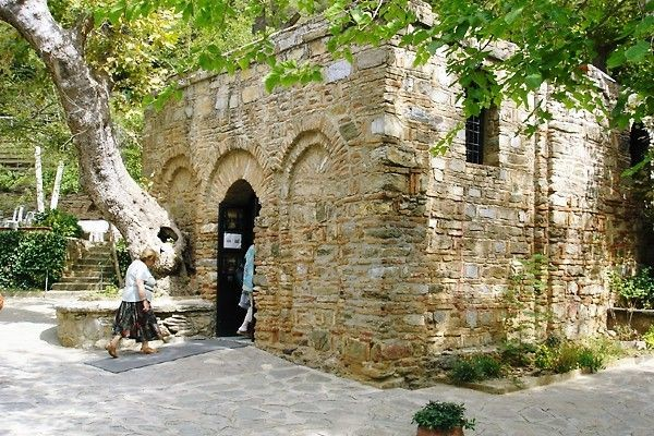 The Virgin Mary's house is in Selcuk, Turkey. It i...