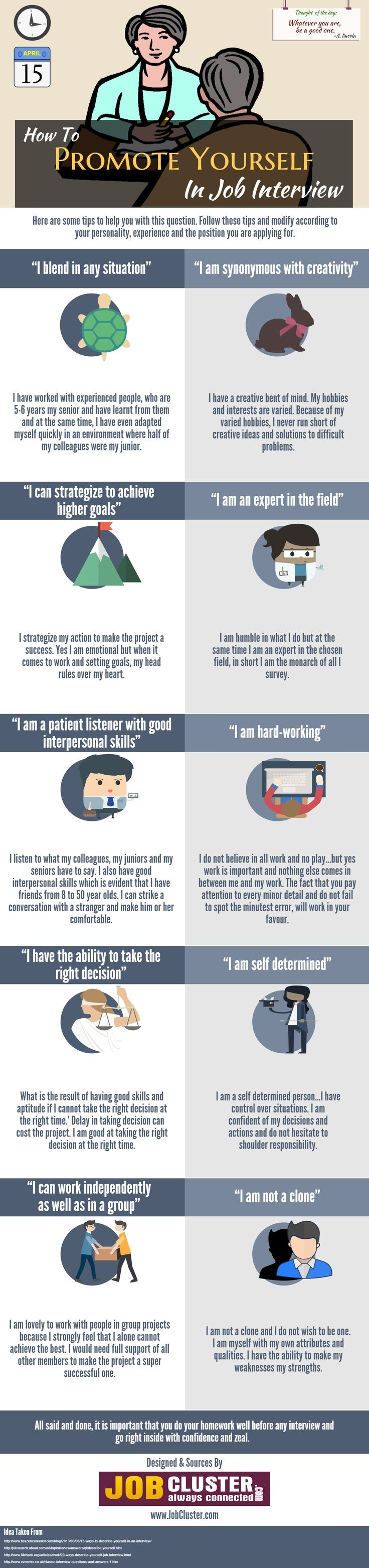 The Words To Use When Promoting Yourself At A Job...