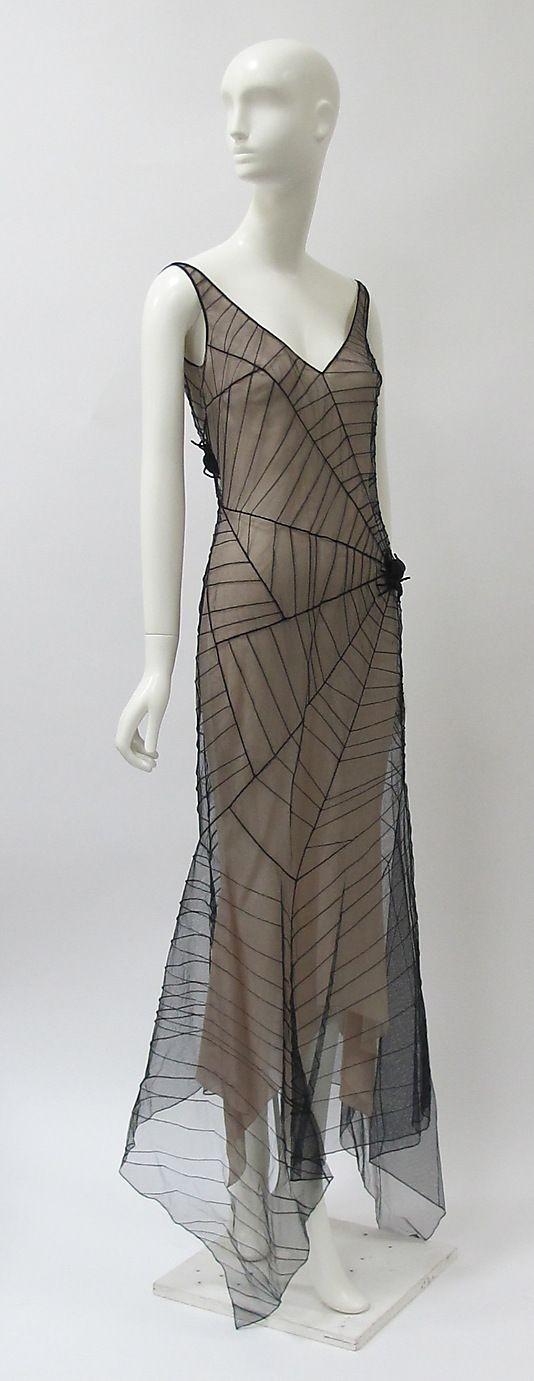 Beautiful Vintage, Gossamer Spider's Web Dress. Su...