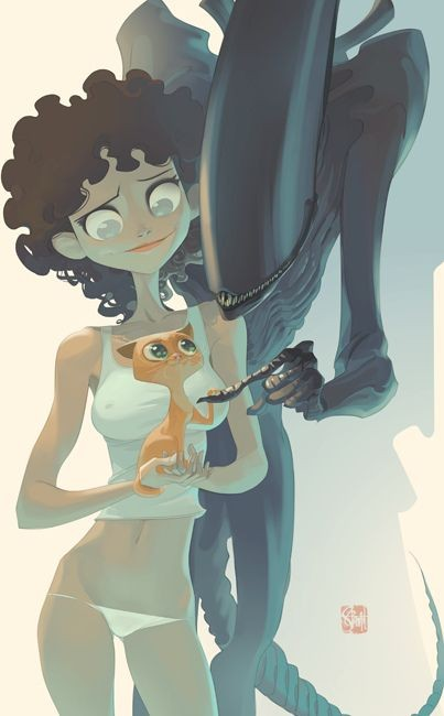 Awesome Art We've Found Around The Net: Alien, E.T...